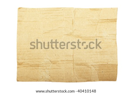Torn cardboard isolated on white background. As textured background or backdrop.