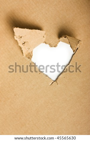 Torn cardboard on a white background - stock photo