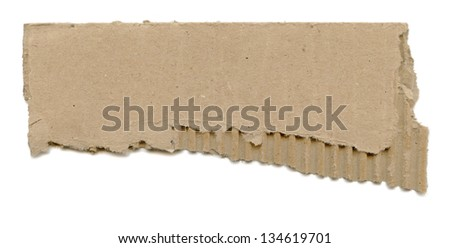 Torn Cardboard Paper - stock photo