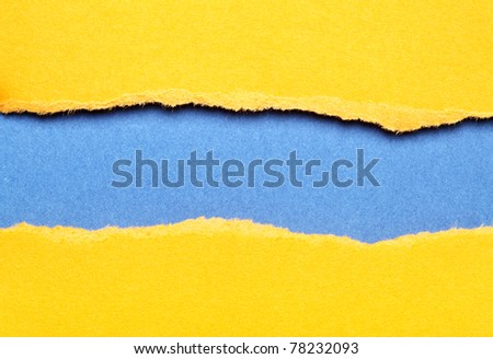 Torn color paper background with space for your text - stock photo