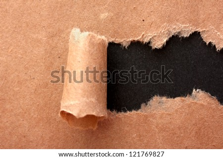 Torn kraft paper background