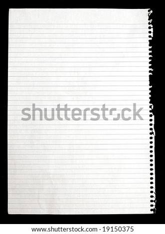 torn lined note paper