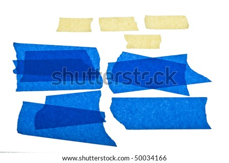 Torn Masking Tape - stock photo