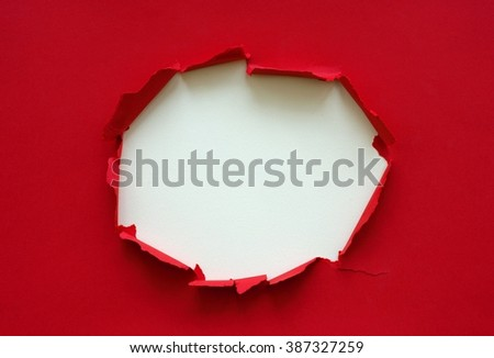 Torn paper as colorful background / Ripped paper  - stock photo