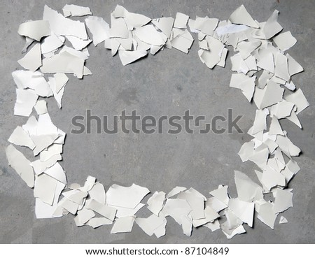 Torn paper frame - stock photo