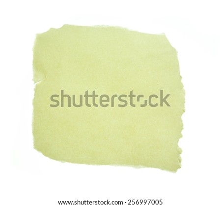 Torn paper isolated on a white - stock photo