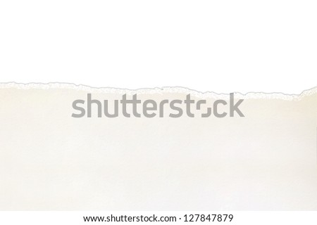 Torn paper  isolated on white - stock photo