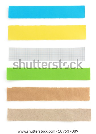 torn paper isolated on white background - stock photo