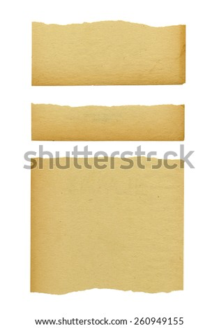 Torn Paper. Isolated on white background.
