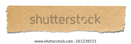 Torn paper. Isolated on white background. - stock photo