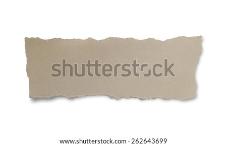 Torn Paper.Isolated on white background. - stock photo