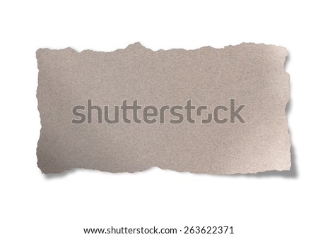 Torn Paper.Isolated on white background.