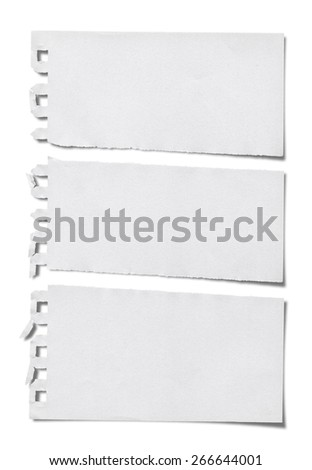Torn Paper.Isolated on white background.(Clipping Path) - stock photo