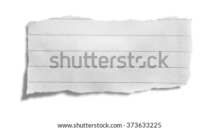 Torn paper, isolated on white background with clipping path - stock photo