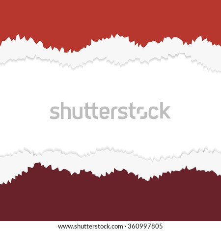 torn paper  layered red illustration - stock photo