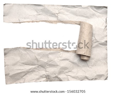 Torn paper on white background  - stock photo