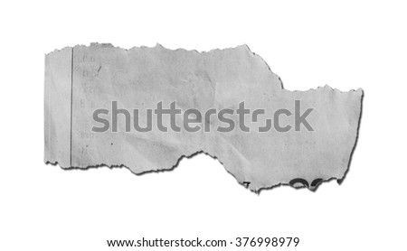 torn paper on white background with clipping path - stock photo