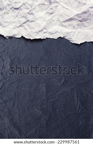 Torn Paper with space for text on gray background - stock photo