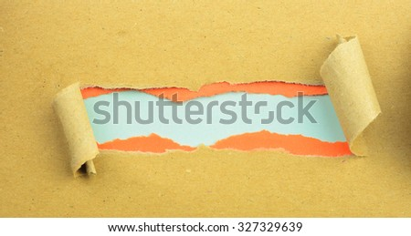 Torn Paper with space for text with green background - stock photo