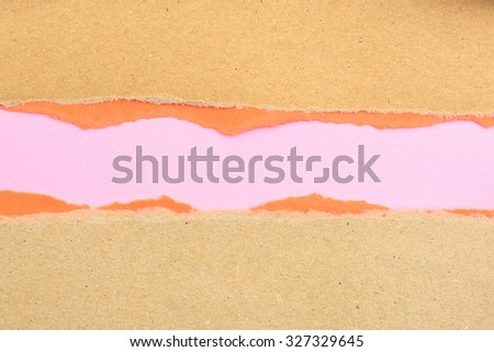 Torn Paper with space for text with pink background - stock photo