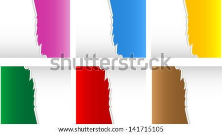Torn Paper with space for text with white background, raster - stock photo