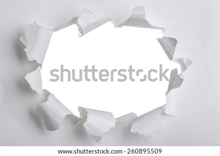 Torn paper with space for your message. An Image of Torn Paper