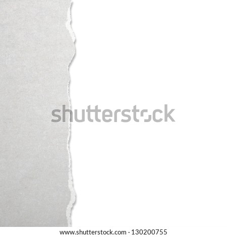 Torn paper with white background - stock photo