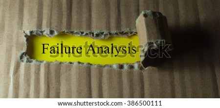 Torn paper with word failure analysis - stock photo
