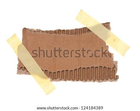 Torn piece of cardboard - stock photo