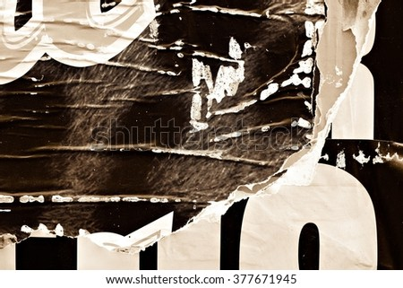 Torn posters and Ripped paper - stock photo