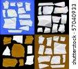 Torn Real Paper Scraps Big Set - stock photo