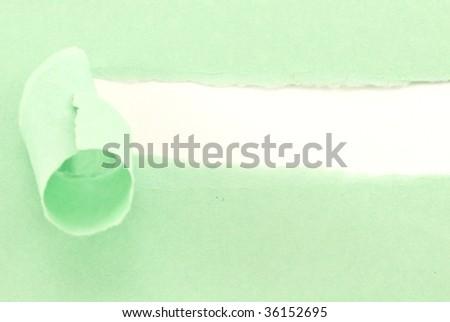 torn sheet - stock photo