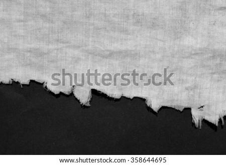 torn white fabric - stock photo