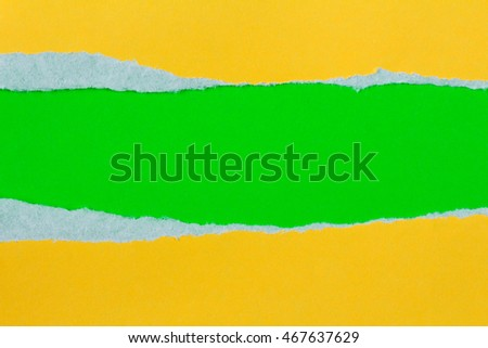Torn yellow paper with a green background for your text