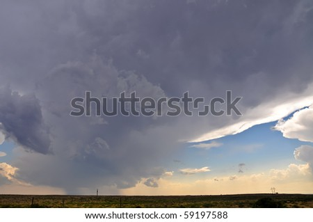 Tornadic supercell - stock photo