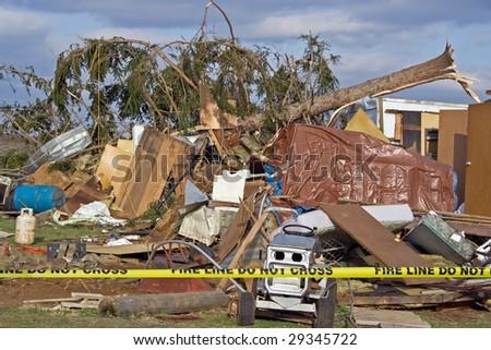 Tornado Damage - stock photo
