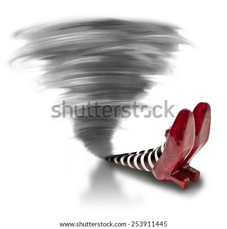Tornado fallen on the Wicket Witch  - stock photo