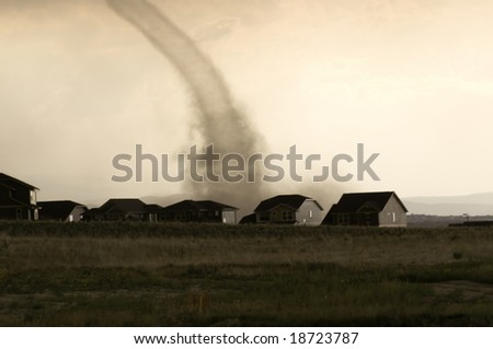 Tornado in Parker, Colorado. - stock photo