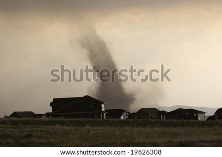 Tornado in Parker Colorado - stock photo