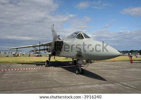 Tornado jet bomber on display - stock photo