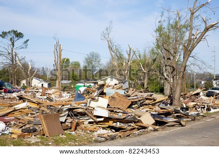 Tornado leaves trail of death, destruction ,fast moving storms hit almost without warning,many homes wiped out,