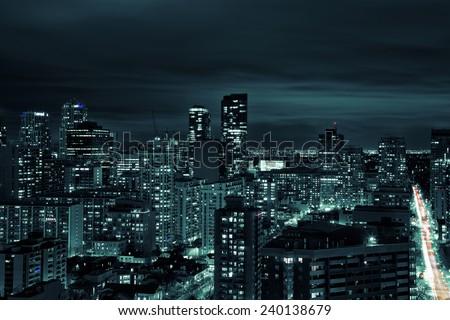 Toronto at night. Toronto, Ontario, Canada.  - stock photo