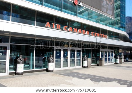 TORONTO - AUGUST 19: The Air Canada Centre entrance on August 19, 2011 in Toronto, Canada. In 2006, the Air Canada Centre was the 11th busiest arena in the world.
