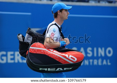 TORONTO, CANADA - AUG 8:   Andy Murray, fresh off his gold medal win at the olympics is ready to go at The Rogers Cup ATP World Tour Masters 1000 Event in Toronto, Ontario, Canada on Wednesday August 8th, 2012.