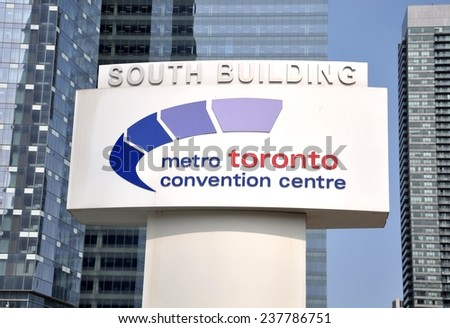 Toronto, Canada - August 3, 2014: Metro Toronto Convention Centre signage.  - stock photo