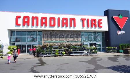 TORONTO, CANADA - JULY 27, 2015: A Canadian Tire store in Toronto, Canada.  - stock photo