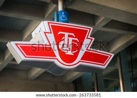 TORONTO,CANADA-MARCH 21,2015: The Toronto Transit Commission or TTC is modernizing, the public transportation system is the largest in Canada and commuters depend on it on a daily basis. - stock photo
