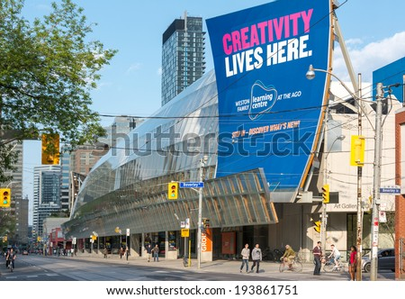 TORONTO, CANADA-MAY 19, 2014:The Art Gallery of Ontario is an art museum in Toronto's Downtown Grange Park district .Its collection: more than 80,000 works spanning the 1st century 2 the present day.