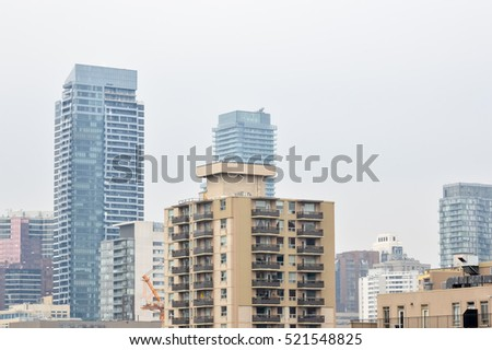Toronto, Canada - November 16, 2016: Condominium Construction. Toronto's boom has helped lead to development of more highrise buildings than any other city in North America.