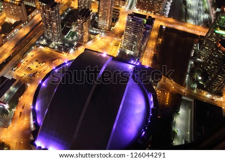 TORONTO, CANADA - OCT 20: Toronto skyline with architectures on October 20, 2010 in Toronto, Canada. Toronto is the provincial capital of Ontario and the largest city in Canada. - stock photo